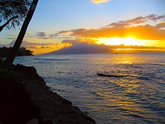 Our first Maui sunset for 2008